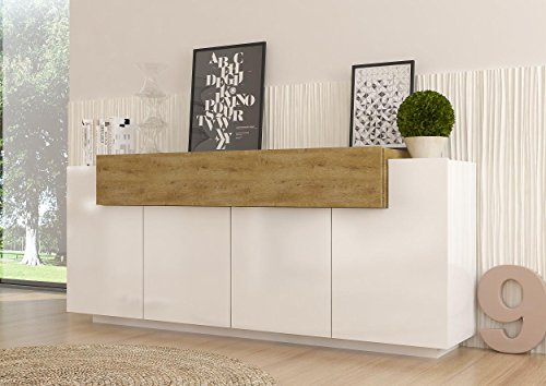 sideboard kommode asia italian design hochglanz wei eiche hell wohnw nde m bel24. Black Bedroom Furniture Sets. Home Design Ideas