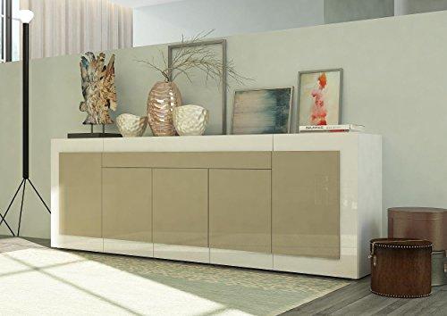 sideboard kommode orizzonti italian design wei hochglanz. Black Bedroom Furniture Sets. Home Design Ideas