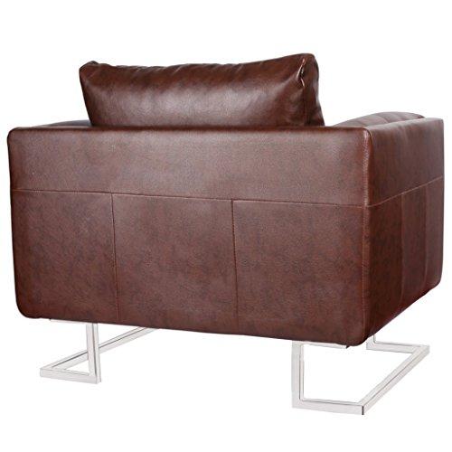 vidaxl luxus ledermixstuhl sofa lounge wohnzimmer relaxsessel couch sessel 0 2 wohnw nde com. Black Bedroom Furniture Sets. Home Design Ideas