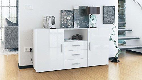 sideboard skadu korpus in wei matt front in wei. Black Bedroom Furniture Sets. Home Design Ideas