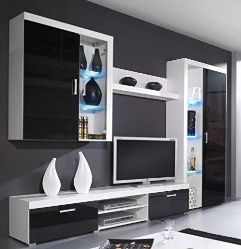 Wohnwand SAMBA mit LED Beleuchtung Wohnzimmer Möbel