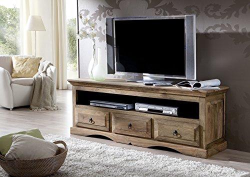 Massivmöbel Kolonialstil Palisander geölt TV-Board Sheesham grau Kolonial massiv Holz Möbel LEEDS #43