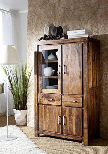 Massivholz Palisander lackiert Möbel life honey Vitrine Sheesham Massivmöbel massiv Holz Metro Life #103