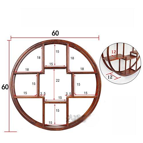 CGN Retro-Massivholz-Regal, im japanischen Stil Restaurant Restaurant Palisander Wand-Antiquitäten Regal Lagerregale Store Wandrahmen Rahmen Display Stand Multifunktion ( größe : B )