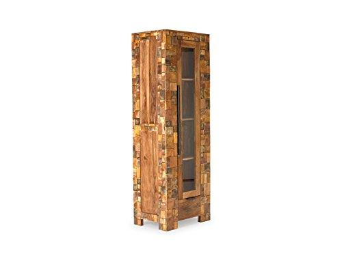 massivum Vitrine Mayari 65x190x45 cm Palisander braun lackiert
