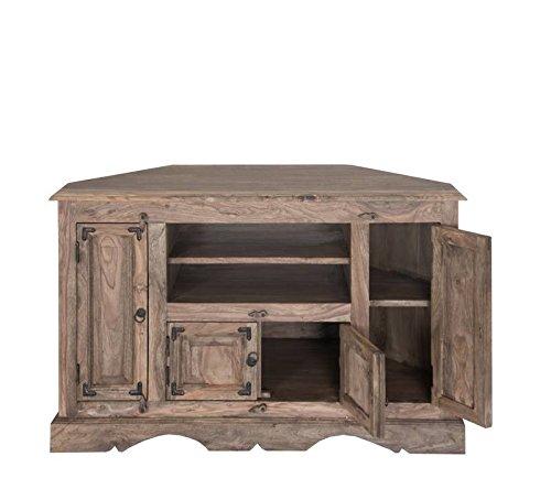 Möbel massiv Holz Palisander geölt grau TV-Eckschrank Sheesham Kolonialstil Massivholz Möbel LEEDS #10