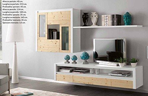 Wohnwand-TV-Halterung-TV ausgesetzt aus Massivholz modernes Design