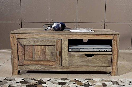 Palisander Massivholz Lowboard Sheesham Holz Möbel Nature Grey #0116