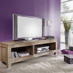 Palisander massiv Holz TV-Board Sheesham Möbel Nature Grey #0123
