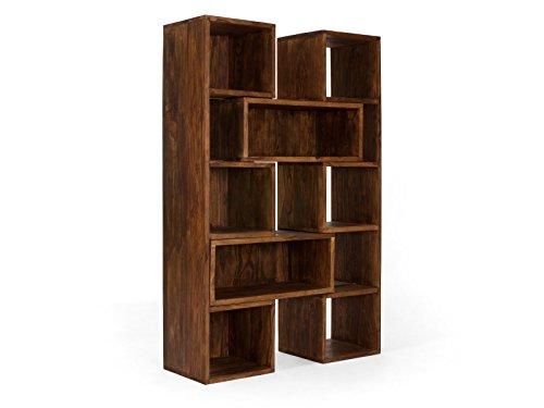 massivum Bücherschrank Cube 88x178x40 cm Palisander braun gewachst