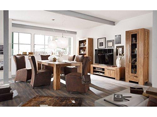 Massivum Stark Wohnwand, Holz, braun, 35 x 103 x 190 cm