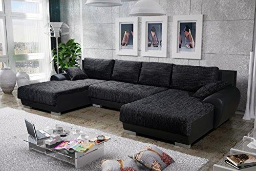 Sofa Couchgarnitur Couch Sofagarnitur LEON 3 U Polstergarnitur Polsterecke Wohnlandschaft mit Schlaffunktion