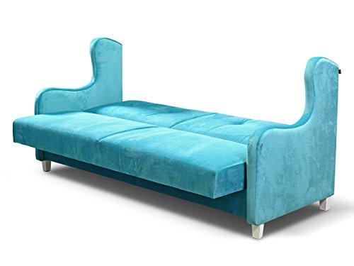 Design Schlafsofa Gala, Sofa mit Schlaffunktion und Bettkasten, Bettsofa, Modernes Schlafcouch, Microfaser, Wohnlandschaft (Kronos 12)