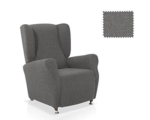 JM Textil Bielastische Husse für Ohrensessel Aire Größe 1 Sitzer (Standard) Farbe Grau