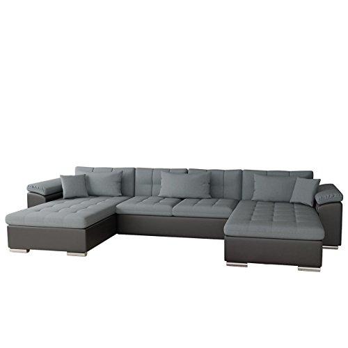 Mirjan24  Ecksofa Wicenza Bris! Elegante Big Sofa mit Schlaffunktion Bettfunktion! Technologie Cleanaboo®, Schwerentflammbar, Wohnlandschaft! U-Form, Eckcouch Couch! (Soft 011 + Bristol 2446)