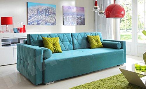Mirjan24  Sofa Belisa, Schlafsofa, Couch, Schlaffunktion, Bettkasten, Wohnzimmer, Modern Still (Casablanca 2313 + Casablanca 2312)
