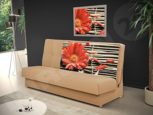 Schlafsofa Image II, Bettsofa, Schlafcouch, Sofa mit Bettkasten und Schlaffunktion, Muster Blumen Broadway F1, Couch, Wohnlandschaft (Alova 07 + Z96)