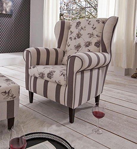 polstersessel ohrensessel aversa mit sch nem landhaus stoff g nstig online kaufen wohnw nde. Black Bedroom Furniture Sets. Home Design Ideas