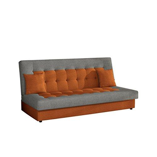 Modernes Sofa Neon mit Bettkasten und Schlaffunktion, Lounge Couch, Bettsofa Schlafcouch Schlafsofa (Lux 10 + Lux 05)