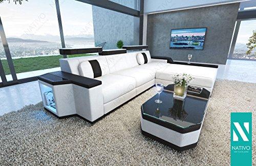 nativo designer kunstleder sofa cesaro mini mit led. Black Bedroom Furniture Sets. Home Design Ideas