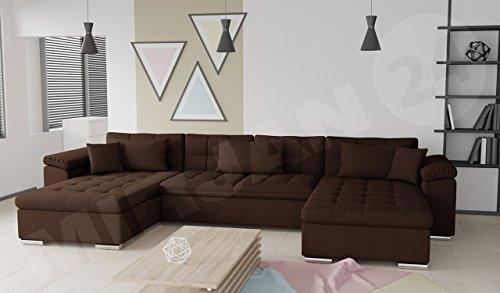 Ecksofa Wicenza SALE! Big Sofa Eckcouch Couch! mit Schlaffunktion Bettfunktion! Design Wohnlandschaft! U-Form, Farbauswahl (Dot 25)