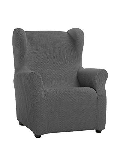 Martina Home Schutzhülle aus elastischem Sessel Modell Tunez Bezug für Ohrensessel 33x42x8 cm grau