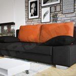 Mirjan24  Schlafsofa Laura, Couch mit Bettkasten und Schlaffunktion, freistehendes Schlafcouch, Couchgarnitur, Bettfofa, Sofa vom Hersteller (Alova 04 + Alova 43)