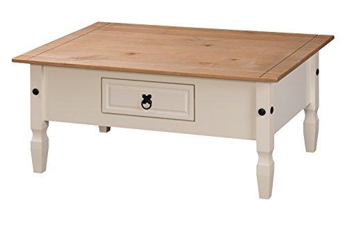 Mercers Furniture Corona Couchtisch, Holz, cream/antique wax, 100 x 60 x 45 cm