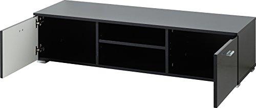 Germania 3665-83 Lowboard mit 2 Türen, in Schwarz Hochglanz, 120 x 30 x 40 cm (BxHxT)