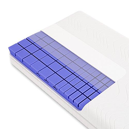 3D 7-Zonen Würfelschnitt HR-Kaltschaummatratze ca. 19cm Gesamthöhe, RG50, geprüfter KERN + Bezug (TÜV Rheinland, LGA) - LUXUSLINE - SCHLUMMERPARADIES Matratze