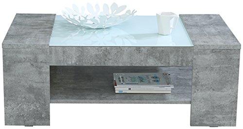 NEWFACE Brady Couchtisch mit Ablage, Holz, beton, 120 x 71 x 45 cm
