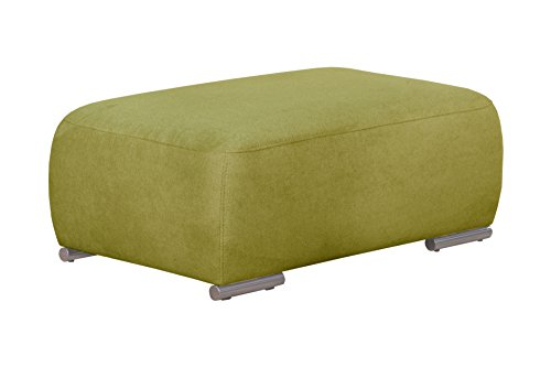 Cavadore Hocker Tabagos / Moderner Polsterhocker / Sofahocker / Passen zu Polsterserie Tabagos / 110 x 44 x 71 (B x H x T) / Farbe: Grün