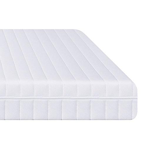 7-Zonen Matratze, Härtegrad H2 H3 (Weiß), Kaltschaummatratze, Rollmatratze, Doppeltuchbezug Waschbar, 4-Seiten-Reißverschluss, Öko-Tex Standard 100