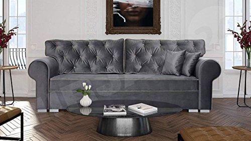 Mirjan24  Schlafsofa Monaco Pic 3, Bettkasten, Schlafcouch, Sofa mit Bettkasten, Couch, Wohnzimmer, Polstersofa, Sofagarnitur, Wohnlandschaft, Polstergarnitur, Modern Still (Tempo 4606 + Tempo 4605)