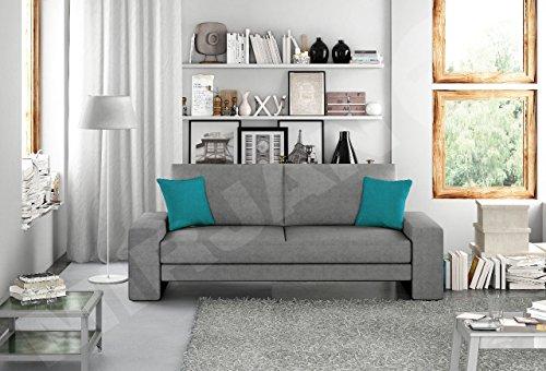 Schlafcouch Schlafsofa - Supra Moderne Sofa mit Schlaffunktion, Lounge Couch, Bettsofa, Materialmix, Couch vom Hersteller, Couchgarnitur (Ibiza 28 + Ibiza 26)