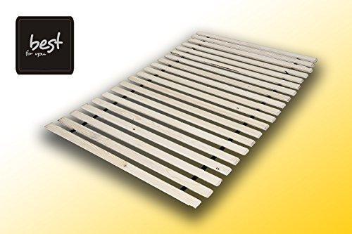 Best For You Lattenrost aus 10,15 oder 20 massiven stabilen Holzlatten Geeignet für alle Matratzen - in viele Größen 60x120 cm - 160x200 cm