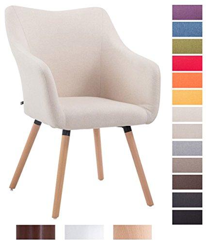 clp retrostuhl mccoy v2 mit hochwertiger polsterung und stoffbezug esszimmerstuhl mit armlehne. Black Bedroom Furniture Sets. Home Design Ideas
