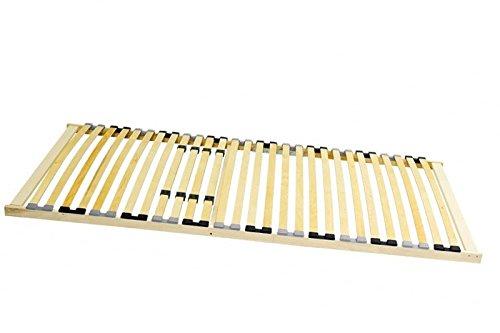Coemo Stabiler 7-Zonen Lattenrost BASIC starr 90x200 100x200 120x200 140x200 cm 28 Leisten -nicht verstellbar- Duo-Kappen