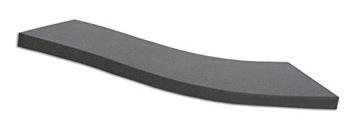 Dibapur ® BLACK: Orthopädische Kaltschaummatratze / Akustikschaumstoff - H2 - Auswahl: Ohne Bezug - Made in Germany