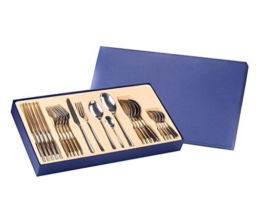 Exzact Premium Edelstahl-Besteck Set 16 Stück - 4 x Tafelgabeln, 4 x Tafelmesser, 4 x Abendessen Löffel, 4 x Teelöffe