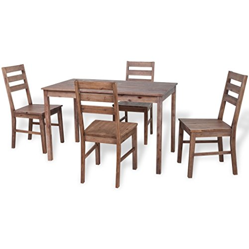 festnight 5 tlg essgruppe set inkl 1 esstisch 4 essst hle esszimmer sitzgruppe k chentisch. Black Bedroom Furniture Sets. Home Design Ideas