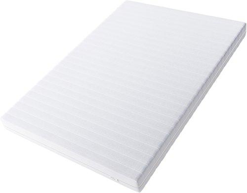 Hilding Sweden Essentials Schaumstoffmatratze in Weiß/Mittelfeste Matratze mit orthopädischem 7-Zonen-Schnitt für alle Schlaftypen (H2-H3)