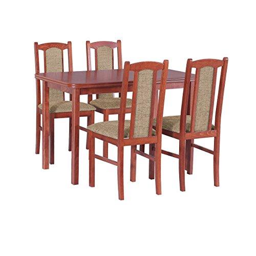 mirjan24 essgruppe mit 4 st hlen dm 25 esstisch. Black Bedroom Furniture Sets. Home Design Ideas