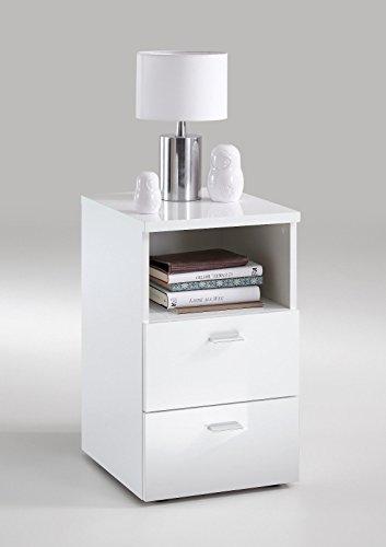 nachtkonsole nachtkommode nachttisch hochglanz wei 652 101 homeforyou24 g nstig online kaufen. Black Bedroom Furniture Sets. Home Design Ideas