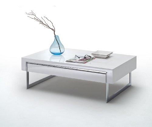 Robas Lund Cooper Wohnzimmer-Tisch, MDF, weiß, 70x 110x 40cm