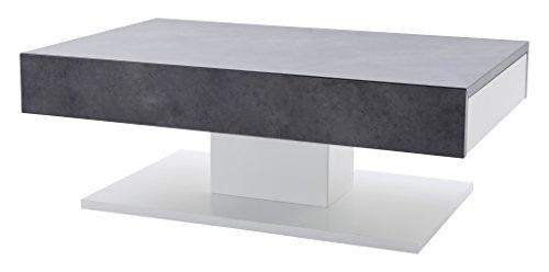 Robas Lund Couchtisch Wohnzimmertisch Lania Matt Weiß 110 x 70 x 40 cm