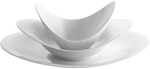 Rosenthal - A La Carte-Scoop Set 3-tlg. Weiß/Teller 32 cm/Teller 25 cm tief/Schale 16 cm