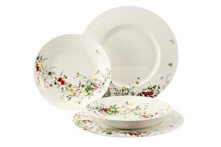 Rosenthal Brillance Fleurs Sauvages Teller-Set 4-tlg.10530-405101-28539