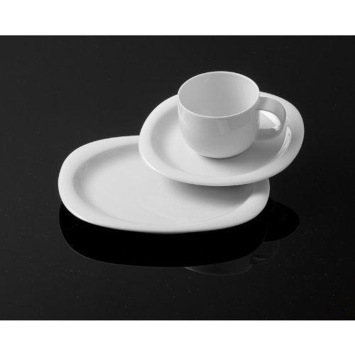 Rosenthal - Suomi Kaffeeset 18-teilig Weiß 6 x Frühstücksteller/6x Kaffeetasse 2-tlg.