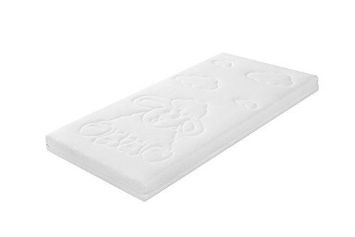Traumnacht 03888201124 Baby/Junior Duo Premium Matratze mit Frotteebezug, 60 x 120 cm, weiß